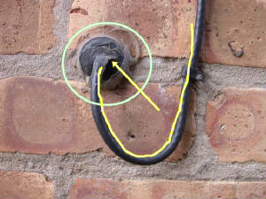How to run a cable through an exterior wall